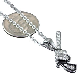 Fresh & Co. Rhinestone Western Pistol Silver Tone Pendant Necklace Free Shipping