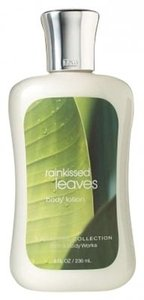 Bath and Body Works Rainkissed leaves body lotion 8 oz