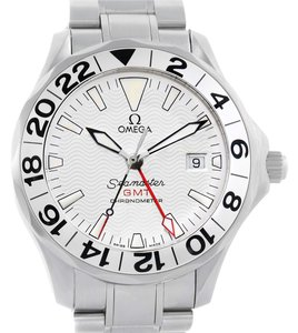 Omega Omega Seamaster GMT Great White Mens Watch 2538.20.00 Unworn