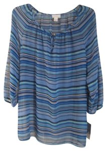 Charter Club Striped Top BLUE