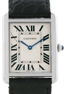 Cartier Cartier Tank Solo Large Stainless Steel Black Strap Watch W1018355