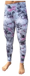 Lululemon Like New Lululemon Wunder Under Pant Roll Down Floral Moody Mirage Size 8