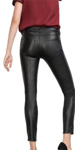 Zara Pants Leather Black Leggings