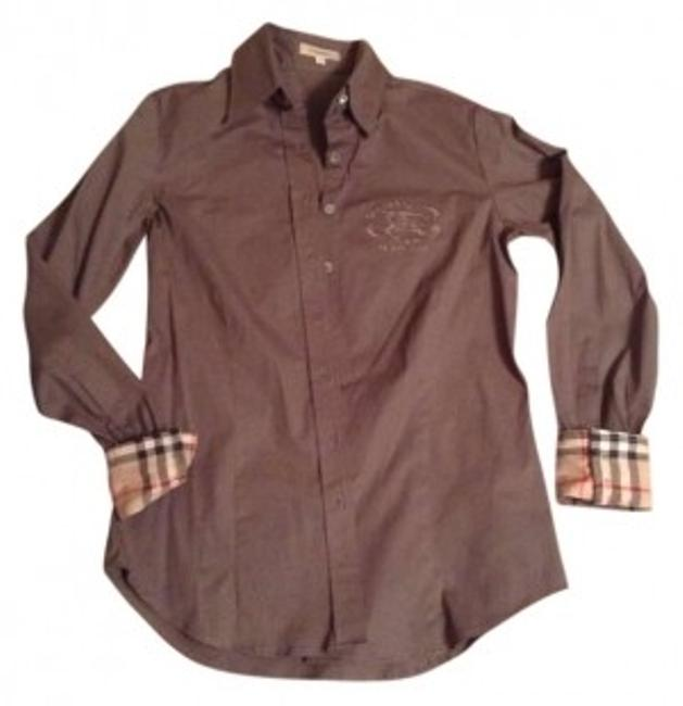 Preload https://img-static.tradesy.com/item/135175/burberry-taupe-button-down-top-size-2-xs-0-0-650-650.jpg