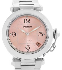 Cartier Cartier Pasha C Stainless Steel Pink Dial Ladies Watch W31075M7