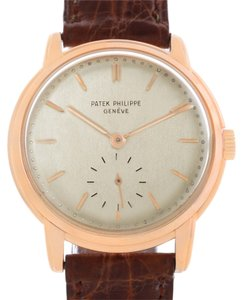 Patek Philippe Patek Philippe Calatrava 18k Rose Gold Mechanical Mens Watch 2484