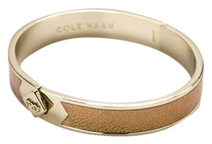 Cole Haan Thin Hinged Leather Inlay Bangle
