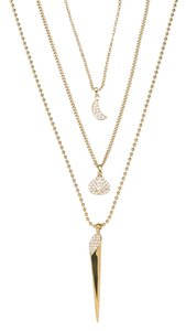 Cole Haan Triple Layer Pave Necklace