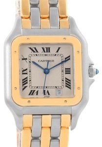 Cartier Cartier Panthere Large Steel 18K Yellow Gold 3 Row Watch W25028B8
