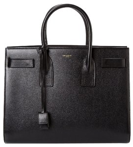 Saint Laurent Leather Satchel in Black