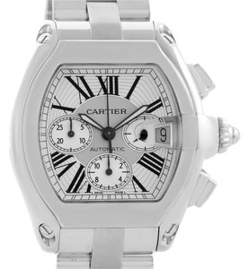 Cartier Cartier Roadster Chronograph Silver Dial Mens Automatic Watch W62019X6