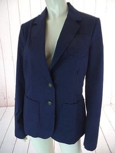 Tommy Hilfiger Tommy Hilfiger Blazer Navy Blue Cotton Elastane Stretch Pockets Preppy