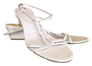 Etienne Aigner White Leather Sandals