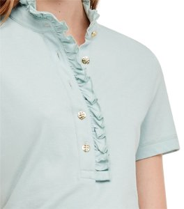 Tory Burch Button Down Shirt seaside green
