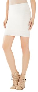 BCBGMAXAZRIA Bcbg Bandage Pretty Mini Skirt White