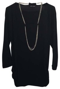 Ella Moss Top Black, silver