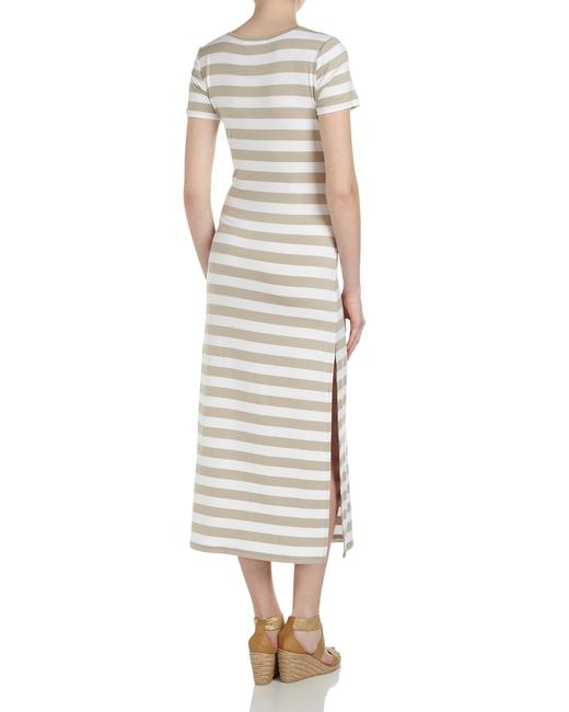 White/Chino Maxi Dress by Michael Kors Maxi Striped Slit