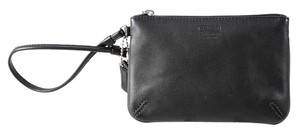 Coach Leather Skinny Wristlet in Black