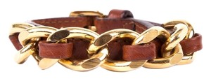 Burberry Burberry Brown & Gold Chain Bracelet