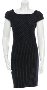 Diane von Furstenberg Pinstripe Sheath Fitted Dress