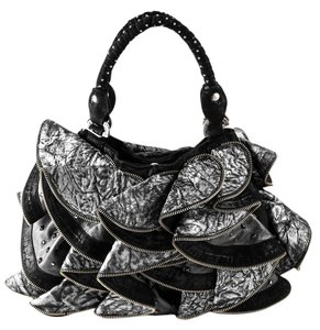 Kippys Pleated Leather Zipper Hobo Shoulder Bag