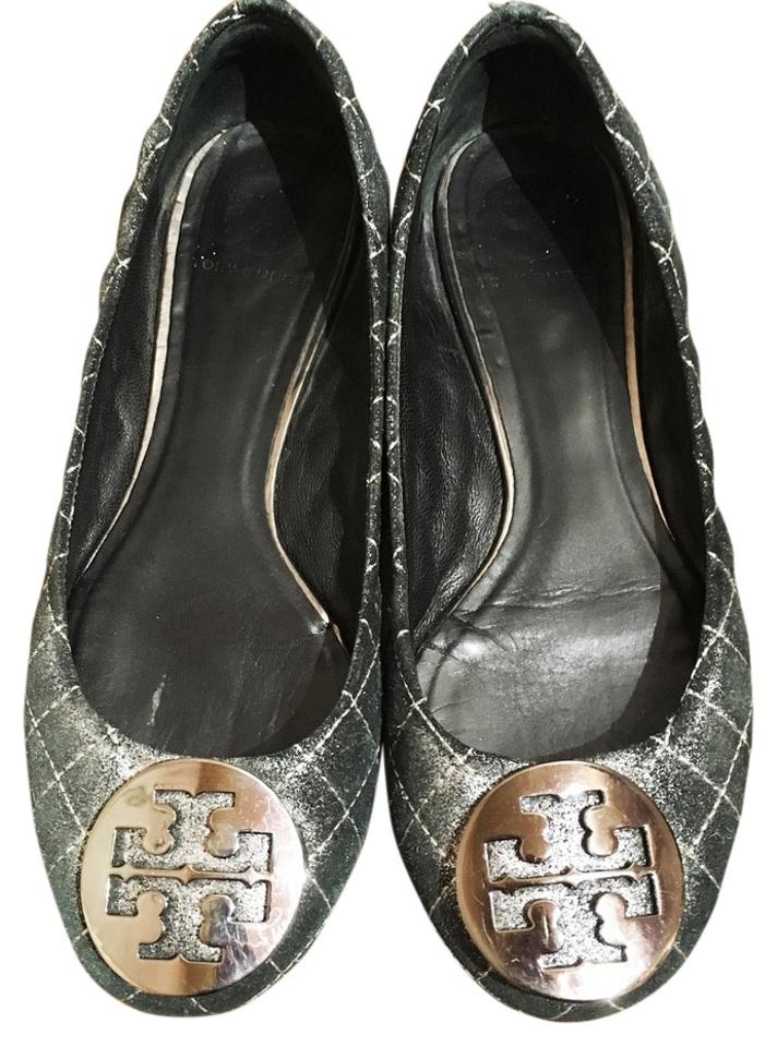 9c8ab97230c9 Tory Burch Dark Green  quinn  Quilted Leather Ballet Flats Size US 7 ...
