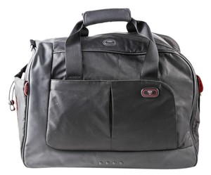 Tumi Nylon Duffle Red Lining Black Travel Bag