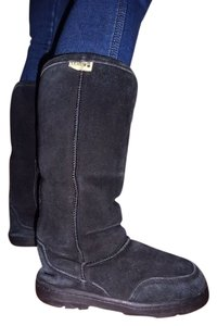 Bearpaw Fur Suede Boot Black Boots