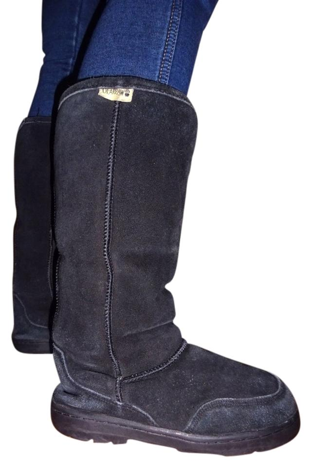 75ecca6e3ca26 Bearpaw Black Suede | Fur Lined Womens Boots/Booties Size US 5 - Tradesy