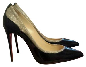 Christian Louboutin Black with hold glitter at the top Pumps
