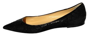 Jimmy Choo Pointed Toe Size 6 Lace Black Flats