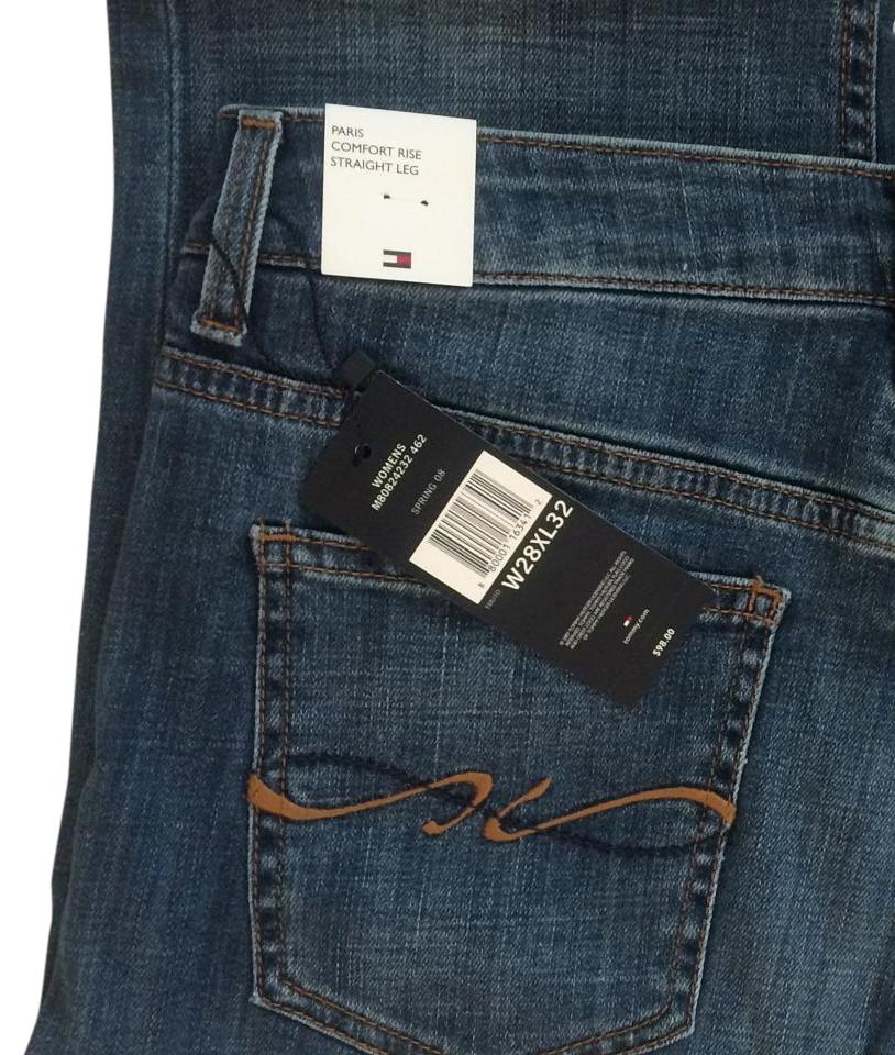 307101ed Tommy Hilfiger Straight Leg Paris Stretchy Relaxed Fit Jeans-Medium Wash  Image 0 ...