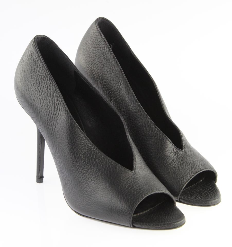 Black Pumps Leather Haydons Peep Burberry B1qAwYxfw