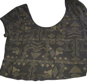 Bozzolo Grey and beige Halter Top