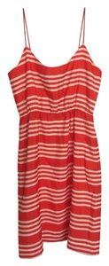J.Crew short dress Red white striped on Tradesy