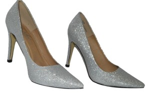 Dido London Stiletto Silver Sparkle Pumps