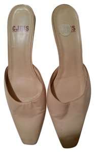 Charles Jourdan Cream Mules