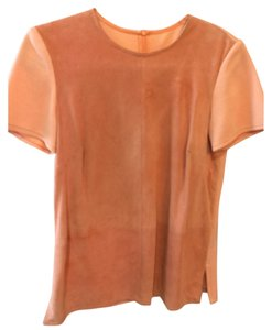 St. John Suede Orange Knit Sweater