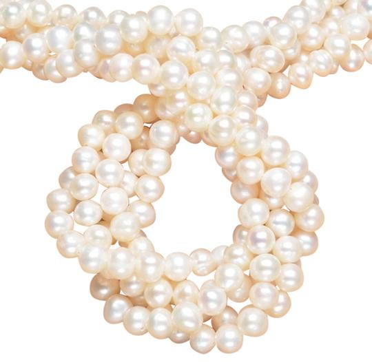 Unknown 6x6x5mm NATURAL REAL PEARL ROUND BEADS free shipping DIY your lovely necklace or bracelet