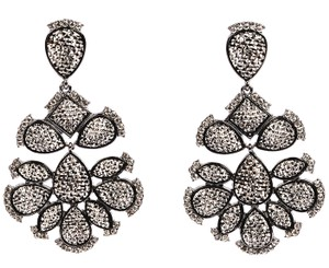 Amrita Singh Amrita Singh Gunmetal Nello Star Crysta Resin Earrings Erc 5090
