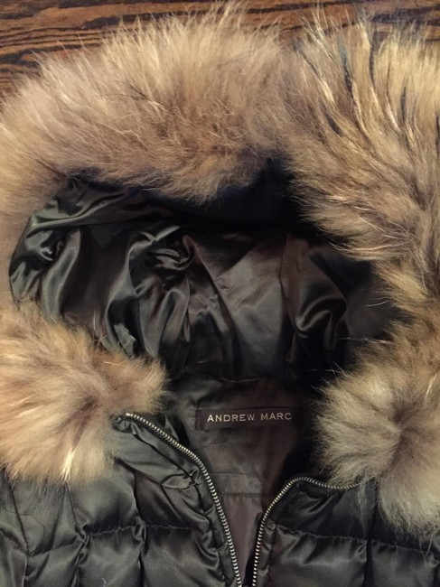 Andrew Marc Brown Shine Fur Coat