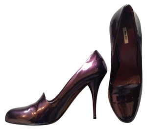 Miu Miu Patent Leather Chic High Heels Purple Pumps