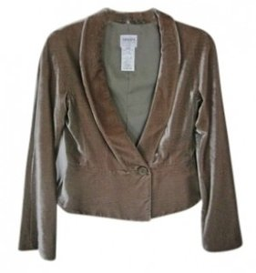 Armani Collezioni Silk Velvet Jacket Silk And Satin Lining Top Shimmery Taupe
