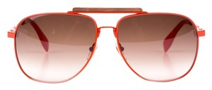Alexander McQueen Alexander McQueen orange framed aviator sunglasses