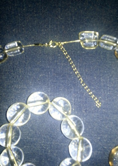 Unknown Clear Acrylic Necklace & Bracelet