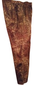 Dana Buchman Boot Cut Pants Brown and cream
