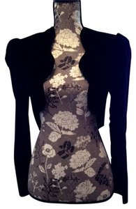 Dave & Johnny Vintage Bolero Velvet Cropped Black Jacket