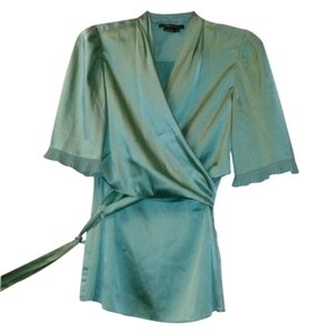 BCBGMAXAZRIA Bcbg Maxazria Satin Top blue/green