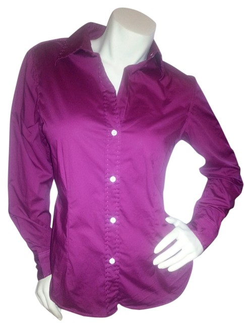 The Limited Dress Shirt Cotton Work Button Down Shirt Wine Red