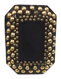 Saint Laurent Black Gold Studded Cocktail Ring 6